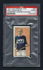 PSA 2 1910 C59 LaCROSSE CARD #92  JOS. LAMOUREUX
