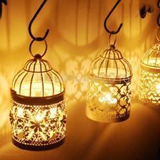 Vintage Metal Birdcage Lantern Candle Holder Garden Night Outdoor Tea Light