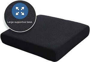 Pressure Relief Memory Foam Comfort Cushion PU Wheel Chair Seat WaterProof Cover
