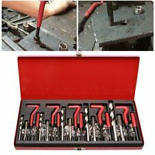131tlg Gewinde Reparatur Innen Gewindehülsen Werkzeug M5 M6 M8 M10 M12 Helicoil