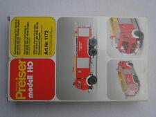 Preiser 1172 Mercedes MB 2632 Feuerwehr Tanklöschfahrzeug TLF 48/50-5 Ziegler
