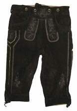 Herren- Trachten- Kniebund- LEDERHOSE / Trachtenhose in schwarz- braun Gr. 46
