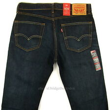 Levis 505 Jeans New Size 32 x 34 DARK BLUE Mens Straight Fit Zipper Fly Levi's
