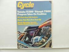 1973 CYCLE Magazine Yamaha TX500 Triumph T100R Suzuki Honda L7709