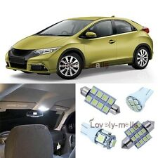 White SMD Car Bulb Light Interior LED Package 7x Kit For Honda Civic 2013-up