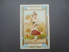 ANTIQUE NEW YEAR Greetings Card Marcus Ward Pretty Little Girl With CORN WHEAT