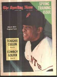 The Sporting News Newspaper Mar 1, 1969 Perpetual Youth Willie Mays