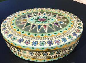Vintage Baret Ware Metalware Tin Decorative Colorful Made in England