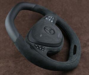 Mercedes custom steering wheel Flat bottom & Top Alcantara W222 S550 S63AMG S600