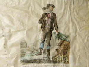 "1823 Township of Thrintoft - Northallerton Manuscript Vellum Map UNIQUE 24"" Squ"