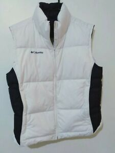 Columbia Sportswear Unisex Reversible Vest - Size M Purple and White