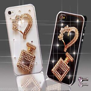 NEW 3D DELUX COOL BLING PERFUME DIAMANTE CASE COVER 4 VARIOUS MOBILE PHONES UK