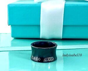 Tiffany & Co. Sz 6.25 Titanium 1837 Wide Band Rubedo Ring w/ Box Gift  2145
