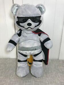 "💙 Build A Bear Star Wars Captain Phasma Gray Bear Plush 16"" Tall 💙 HTF Rare"