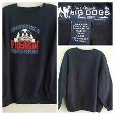 """Big Dogs Men's """"Do I Look Like A Freakin' People-Person?"""" Navy Sweatshirt Lg"""