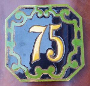 Principio del Siglo XX Número 75 Azulejo Mensaque Rodriguez Triana Sevilla