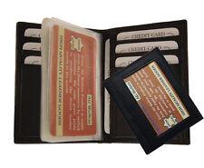 Mens Slim Front Pocket Leather Simple Plastic Insert Card Holder Bifold Wallet