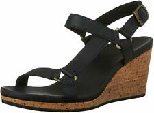 NEW Teva Arrabelle Universal Wedge Sandals, Black Leather, Women Size 10.5  $100