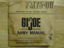 1964 G I Joe Fm75-00 Action Soldier Army Manual 32 pages Made in Usa