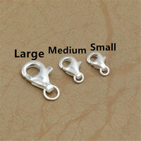 10 Sterling Silver Lobster Claw Clasps 925 Silver Bracelet Necklace Connectors