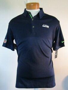 NWT Nike Seattle Seahawks Mens Sideline Elite Coaches Polo Shirt 2XL Navy $85