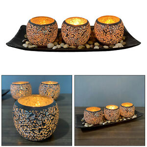 Set of 3 Candle Holder Set Tray Table Centerpiece Party Living Room Ornament