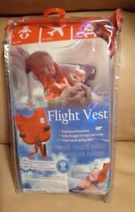 Baby B'Air AIRLINE FLIGHT VEST Airplane SAFETY Large Toddler FAA Harness red
