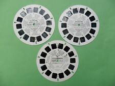 3 disques view master  USA  état voir photos