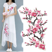 3PC Embroidery Magnolia Flower Sew On Patch Badge Bag Jeans Dress   A