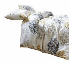 Floral Pissenlit Gris Jaune Coton Mélange King Taille Housse de Couette