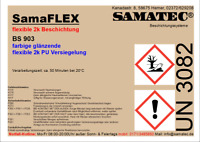 SAMAFLEX BS903 Flexible 2k PU glänzende Beschichtung (35 RAL Farben)
