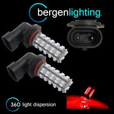 2x HB3 9005 Red 60 LED FENDINEBBIA Lampada Spot Lampadine High Power XENON ff500801