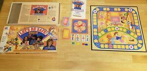 RARE! - Let's Be Safe Board Game Milton Bradley-1986 - Joan Lunden - Complete!