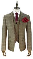 Cavani Albert Brown Tweed Three Piece Suit -Peaky Blinders Style British Classic