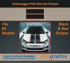VW Polo Bonnet Stripe Kit Stickers decals - Other colours available