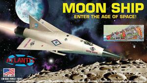 Atlantis 1825 (Revell) 1950s MOON SHIP Shuttle Spacecraft plastic model kit 1/96