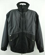 SNICKERS Workwear Jacket Waterproof Zip Neck PU Coated Black Grey size L