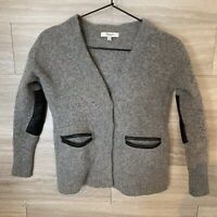 Madewell Lambs wool leather elbow patch sweater  Size xs Womens