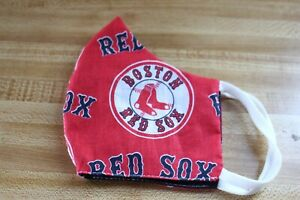 MLB BOSTON RED SOX FACE MASK  HANDMADE IN USA