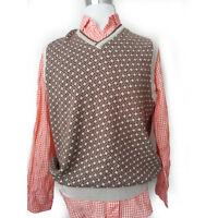 Joseph Abboud GOLF Men Size M Wool Blend Vest Sweater V-Neck
