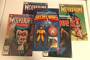 Secret Wars Wolverine Black Claws Toy + Wolverine #1 CGC 8.0 + Three More Comics