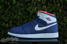 NIKE AIR JORDAN 1 RETRO HIGH I GS SZ 7 Y DEEP ROYAL WHITE PURPLE 332148 411