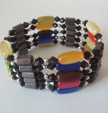 NEW Adjustable Magnet Assorted Colours Chunky Bracelet Necklace Choker Beads