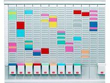 Nobo 12 T-Carte Panneau Bureau Planning Kit - 800 x 730 mm | 12 Mois Kit + 24 H del