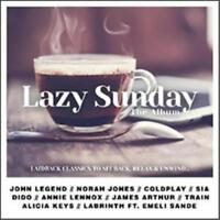 LAZY SUNDAY The Album 2CD NEW John Legend Norah Jones Coldplay Sia Dido Train