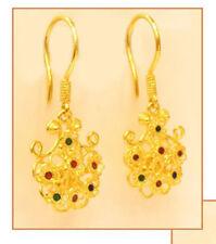 22k  gold enamel earring thai / india 22k  4.3  #43