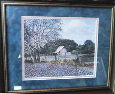 B. HERD MEMORIES PAST ED #140/500 LITHOGRAPH ART PRINT HAND SIGNED FRAMED COA