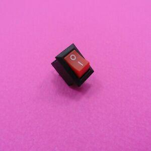 2 Pin Snap KCD11-101 Rocker Switch 3A 250V, 6A 125V Mount ON-OFF Button SPST