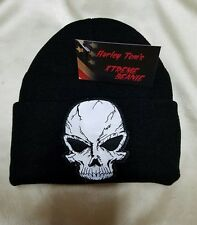 Harley Toms Reflective Skull Xtreme Beanie Knit Hat Doo Rag Biker Skullcap Dorag