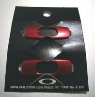 Oakley Batwolf Sunglasses Replacement Icons Attachments Pair Red Anodized New